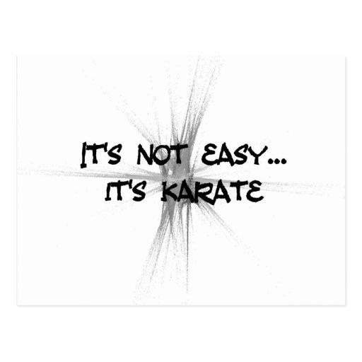 No es fácil - postal del gris del karate