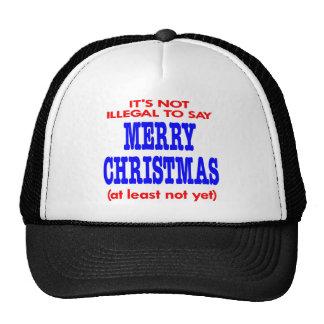 No es ilegal decir Felices Navidad Gorro