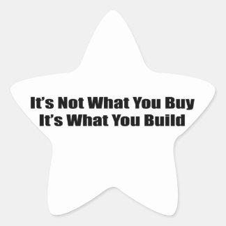 No es lo que usted le compra es lo que usted const calcomanías forma de estrellas