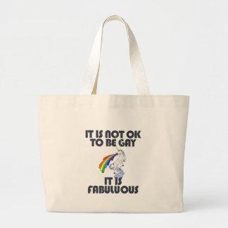 No es muy bien ser gay. Es fabuloso Bolsa Tela Grande