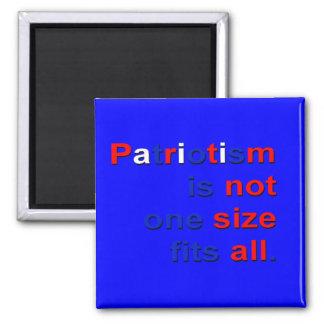 No es qué patriotismo imán cuadrado