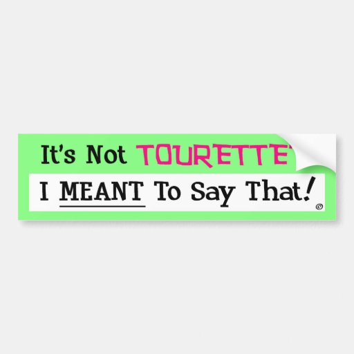 No es Tourette Etiqueta De Parachoque
