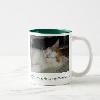 ¡No es un hogar sin un gato! Tazas De Café