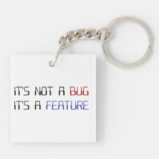 No es un insecto de la codificación que es una llavero cuadrado acrílico a doble cara