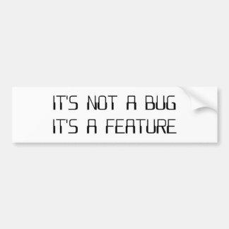 No es un insecto de la codificación que es una pegatina para auto