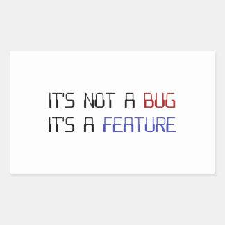 No es un insecto de la codificación que es una pegatina rectangular