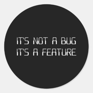No es un insecto de la codificación que es una pegatina redonda