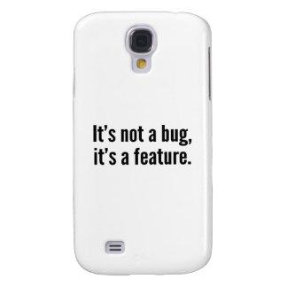 No es un insecto, él es una característica funda samsung s4