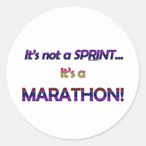 No es un Sprint… 2 Pegatina Redonda