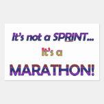 No es un Sprint… 2 Rectangular Pegatina