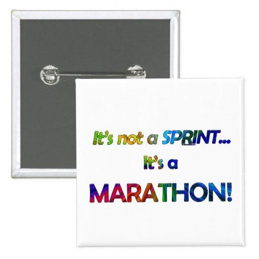 No es un Sprint… Pin Cuadrado