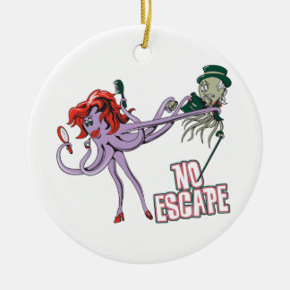 no escape funny octopus love ornament