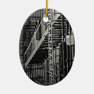 No Escape Grunge Urban Ceramic Ornament