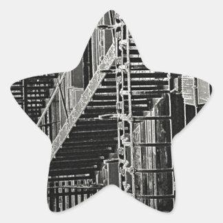 No Escape Grunge Urban Star Sticker