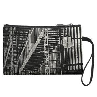 No Escape Grunge Urban Suede Wristlet Wallet
