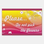 no escoja las flores (rosa): eleganceEssentials Letreros