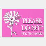 no escoja por favor las flores: coloree el persona señales