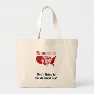 No escuche las mentiras maldecidas bolsas lienzo