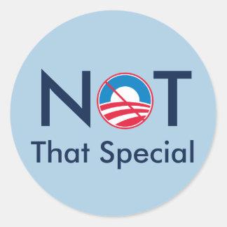 No ese especial Obama Etiquetas Redondas