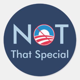 No ese especial Obama Pegatinas Redondas