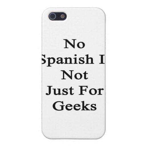 No español no está apenas para los frikis iPhone 5 carcasas