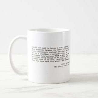 """""""no esperaré """" taza básica blanca"""