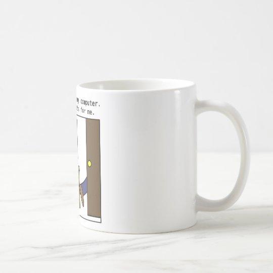 No espero mi ordenador taza de café