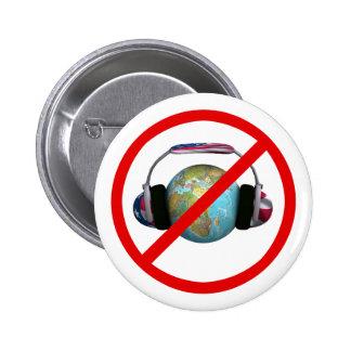 No espíe el mundo pin redondo 5 cm