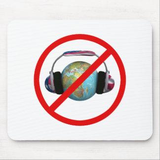 No espíe el mundo tapete de ratón