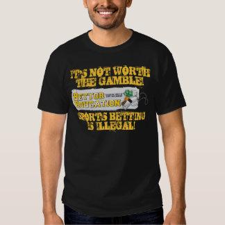 No está digno del juego camisas