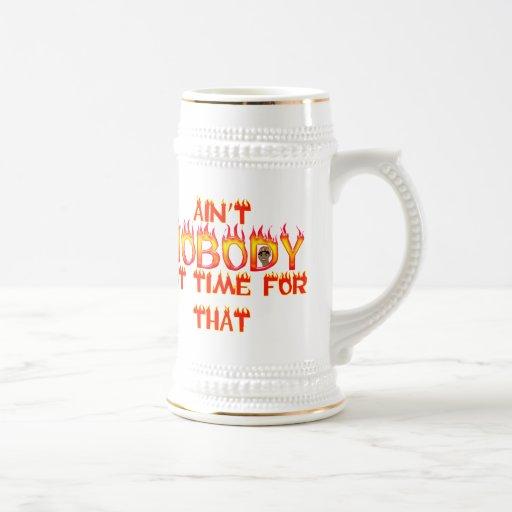 No está nadie dulce conseguido Brown del tiempo Tazas De Café