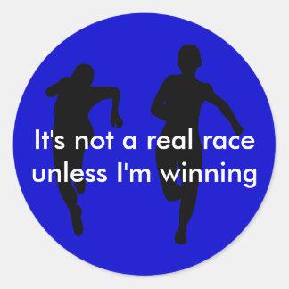 No estamos corriendo una carrera real a menos que pegatina redonda