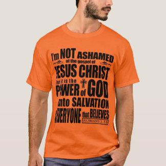 No estoy avergonzado del evangelio playera