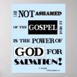 No estoy avergonzado del evangelio, poster