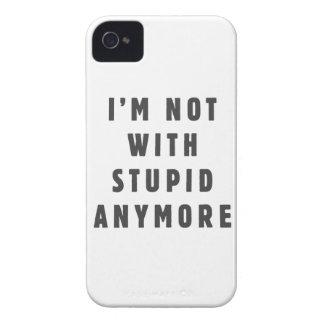 No estoy con estúpido más iPhone 4 protector