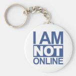 No estoy en línea llaveros