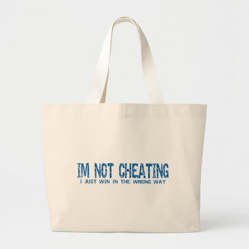 No estoy engañando bolsas lienzo