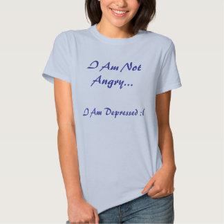 No estoy enojado…, yo soy deprimido: ( playera