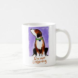 No estoy escuchando (el perrito) taza de café
