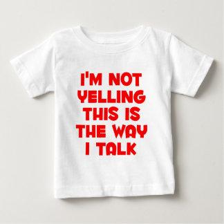 No estoy gritando playera de bebé