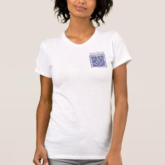 No estoy interesado con código de QR Camiseta