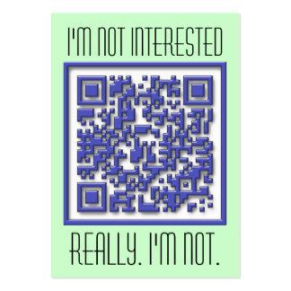 No estoy interesado con código de QR Tarjetas De Visita