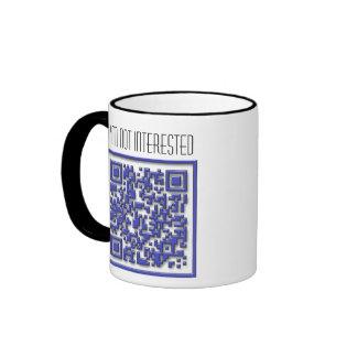 No estoy interesado con código de QR Taza De Café