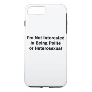 No estoy interesado en ser educado o heterosexual funda iPhone 7 plus