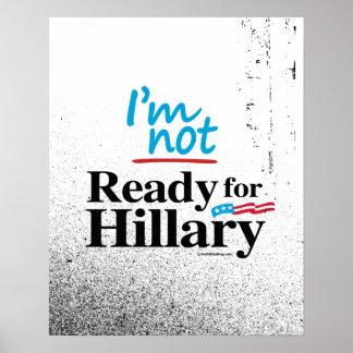 No estoy listo para Hillary - Hillary anti png.png Póster