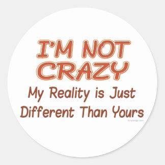 No estoy loco pegatina redonda