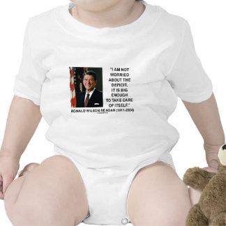 No estoy preocupado de la cita del déficit Reagan Camisetas