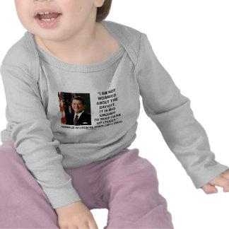 No estoy preocupado de la cita del déficit Reagan Camiseta