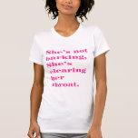 """""""No estoy raspando"""" la camiseta humana"""