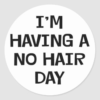 No estoy teniendo ningún pelo pegatina redonda